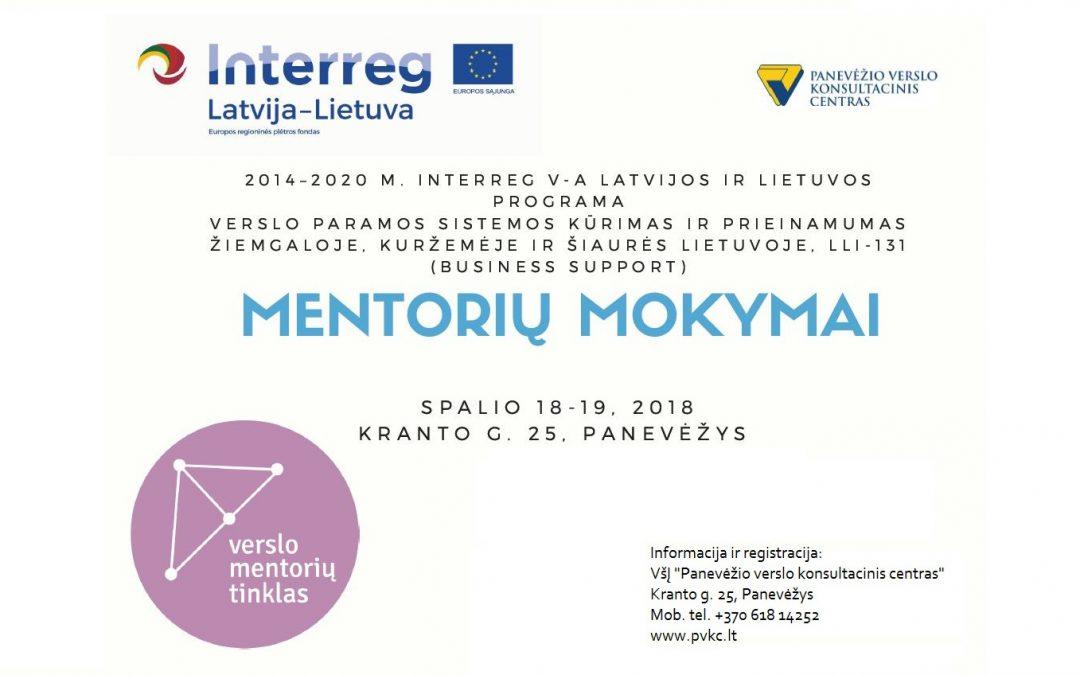 Mentorių mokymai (1-oji grupė)